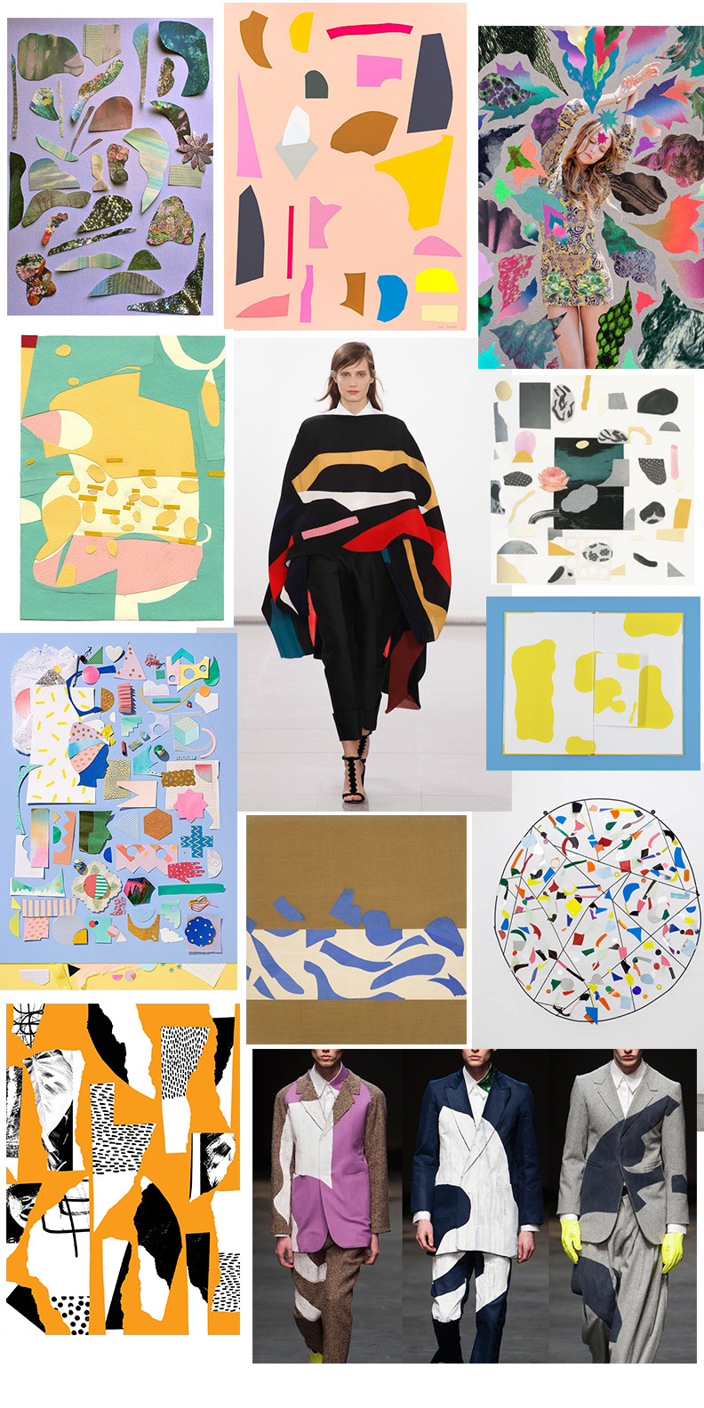 Clockwise from upper left: Fanny Rose, Kira Jamison, Hisham Akira Bharoocha, Jessica Williams, Nathan Carter, Alan Taylor 2014, Atelier Bingo, Beci Orpin and Sean Fennessy, Hernan Paganini Puloverchito, Issa Fall 2014, Violette Hurry De France,   Henri Matisse,