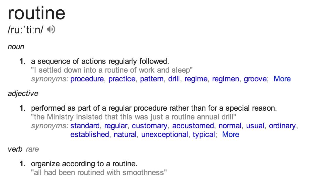 Google.com, Routine