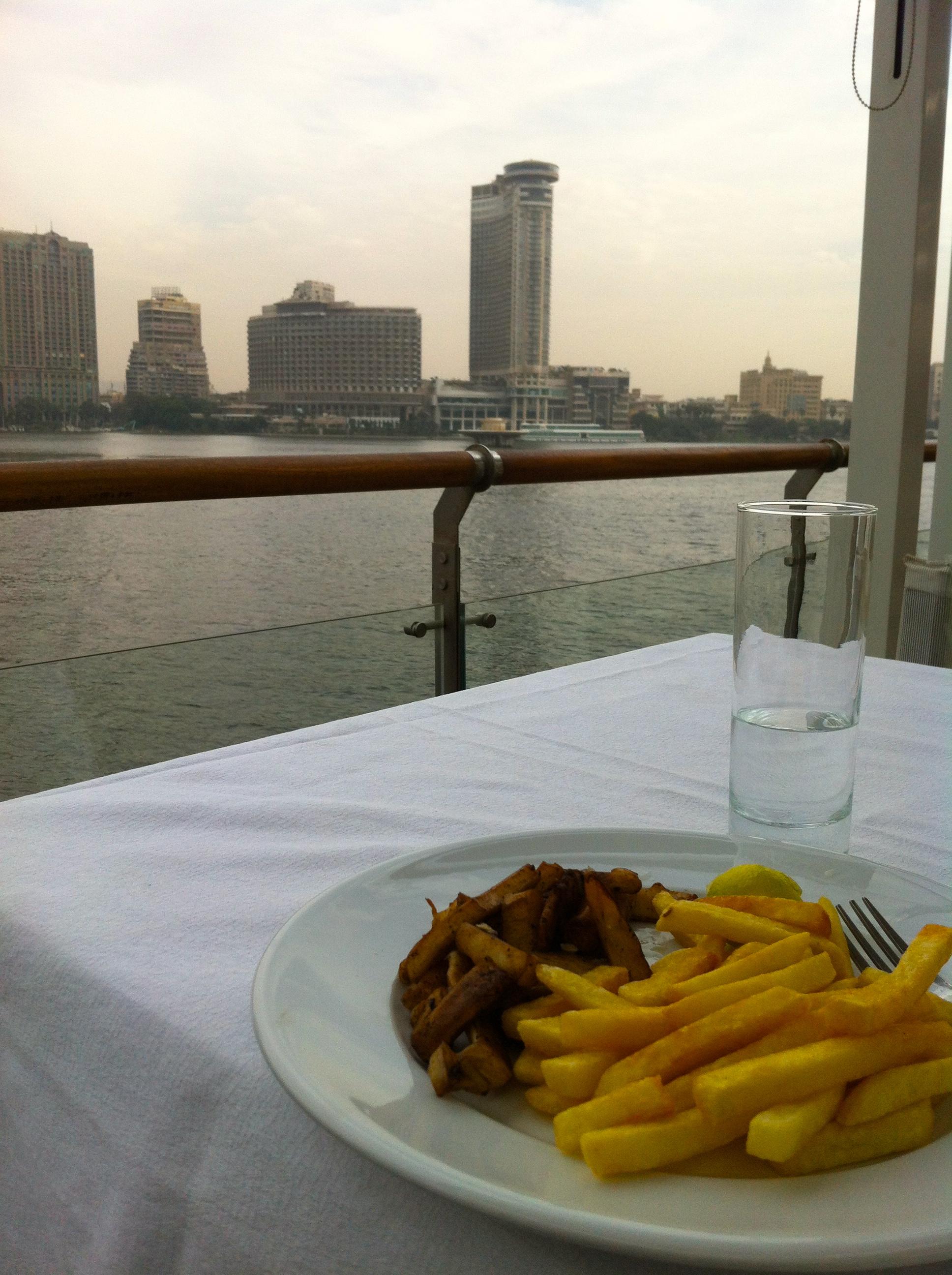 Calamari and Chips at the Greek Club, Cairo