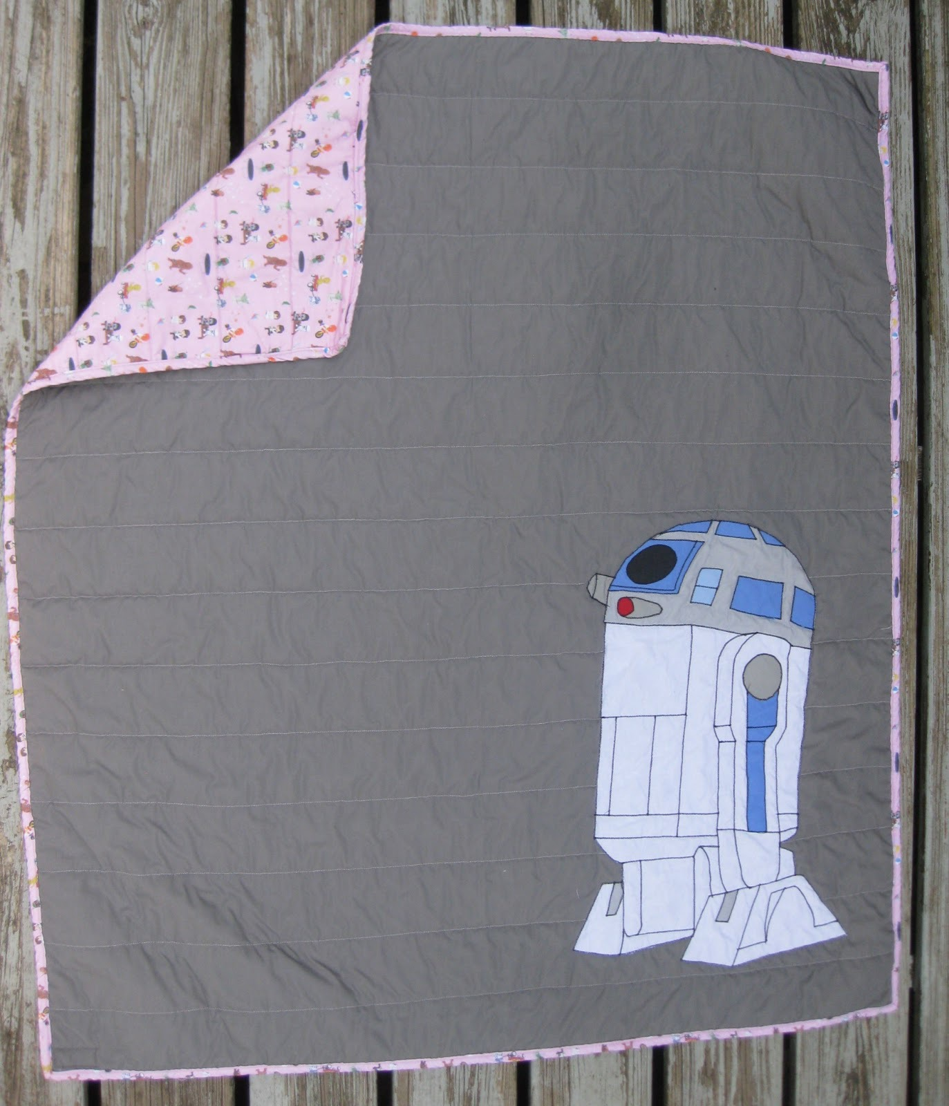 Star Wars quilt with R2D2