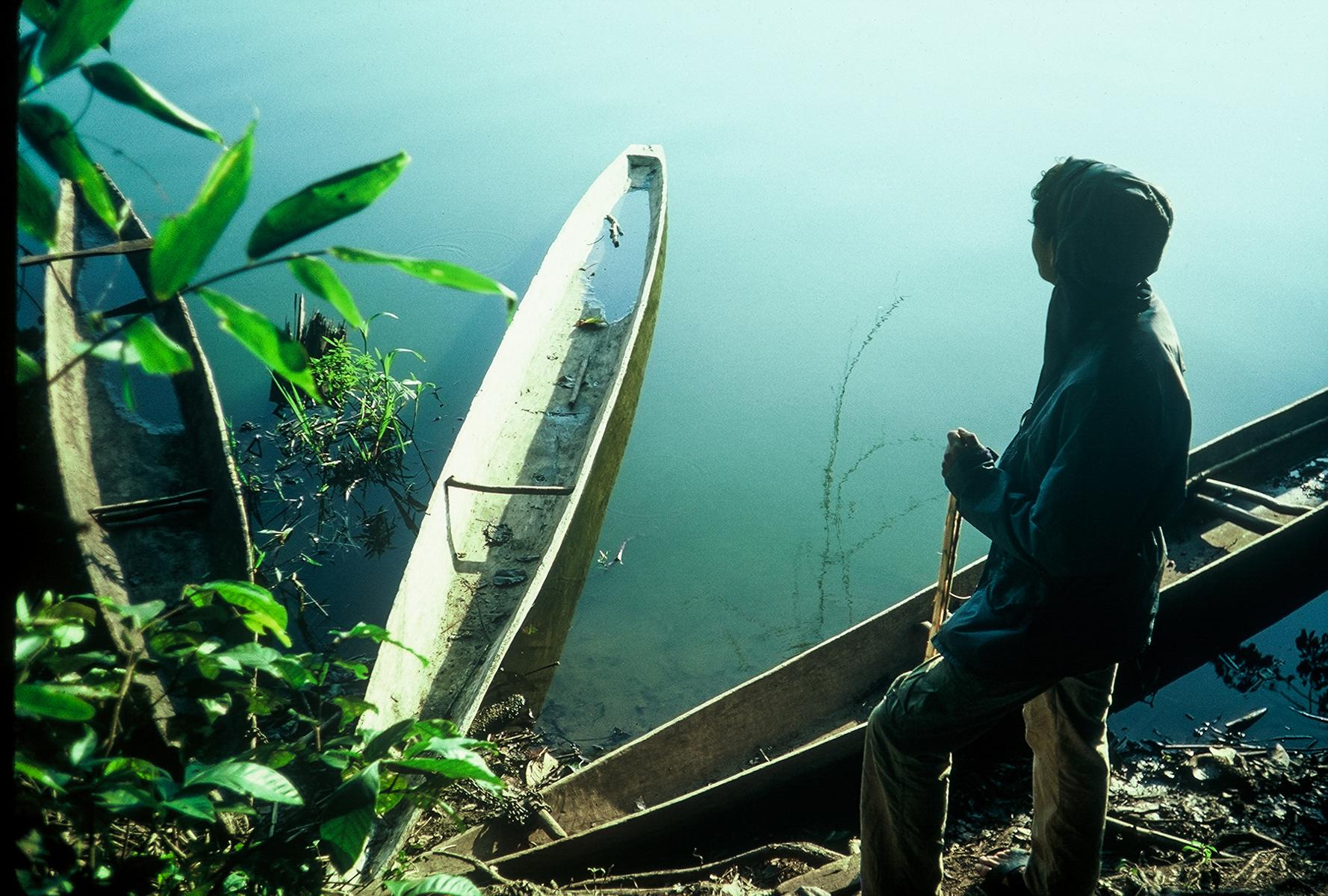 Canoes, Manu, Peru ©1987 Lisa Berman