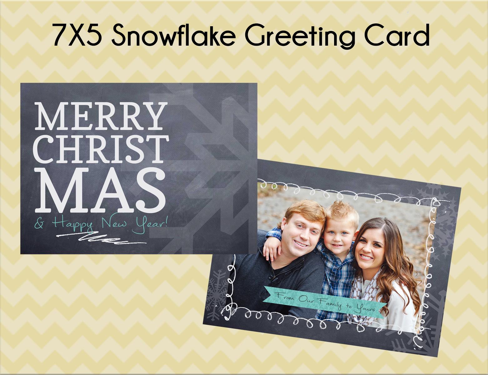 Option #4: 7x5 Snowflake Greeting Card