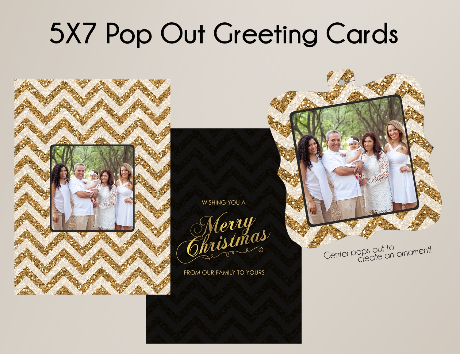 Option #1: 5x7 Pop Out Greeting Card
