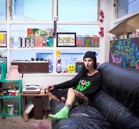 Erin in her Method & Manners studio