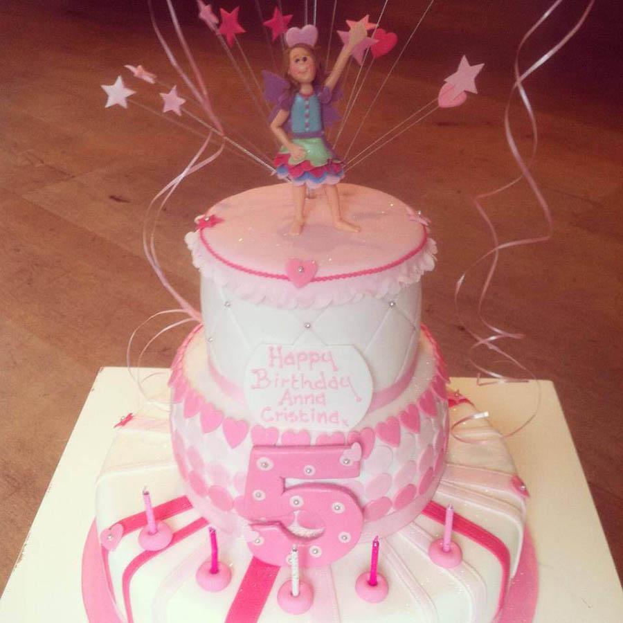 3 Tier Pink Present Cake