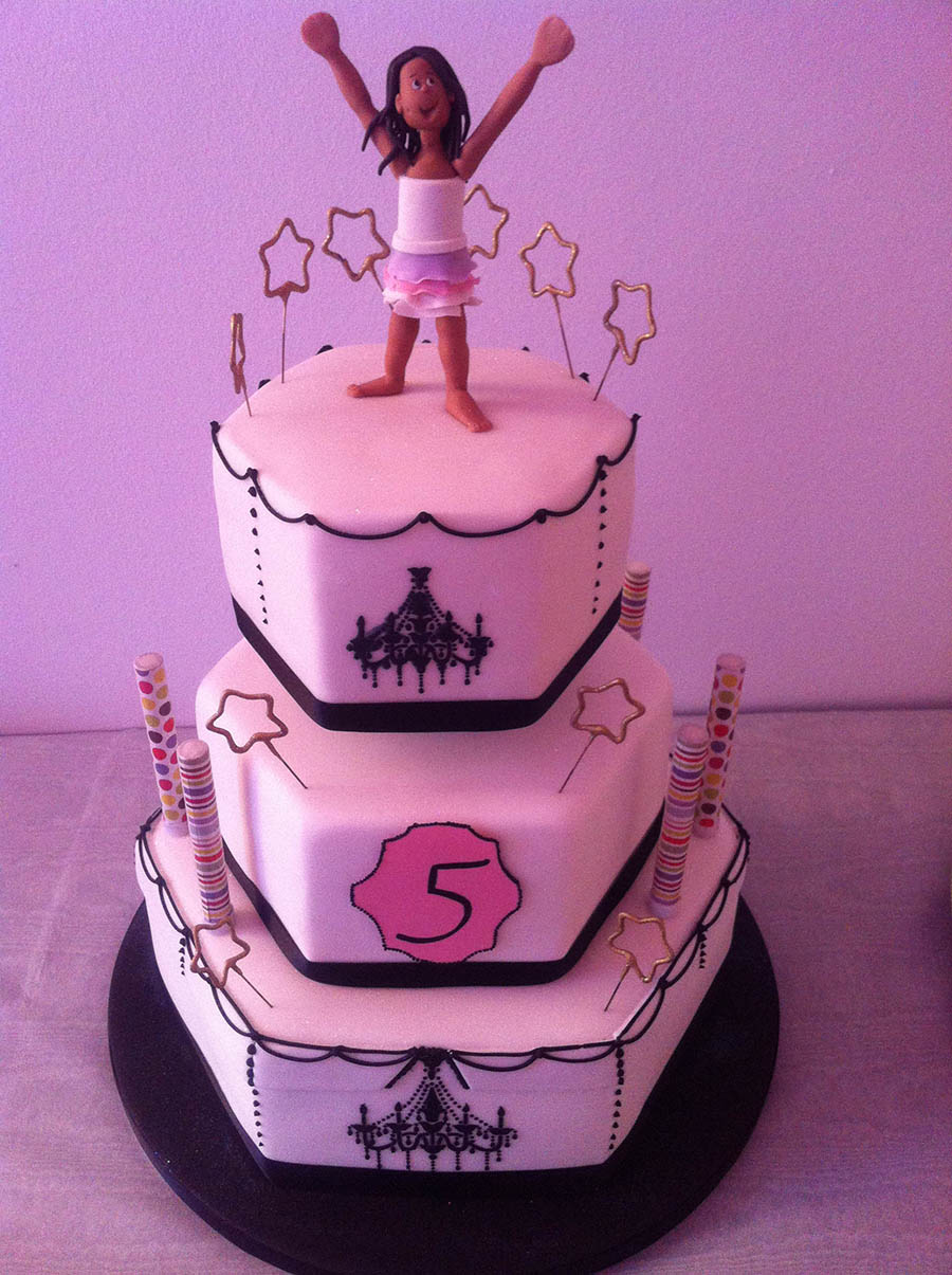 3 Tier Girls Cake