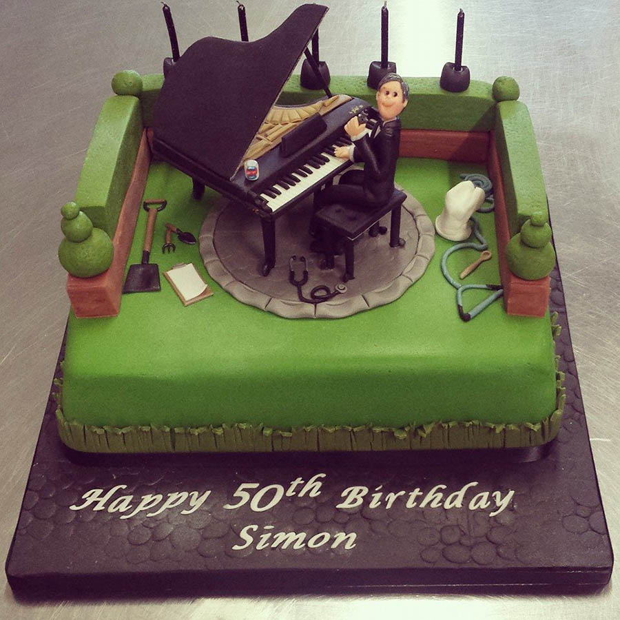 Piano Player Cake