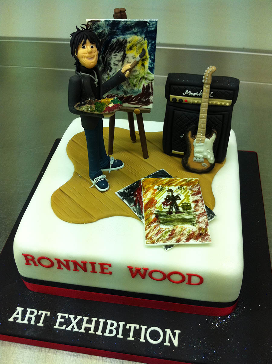 Ronnie Wood Art Exhibition Cake