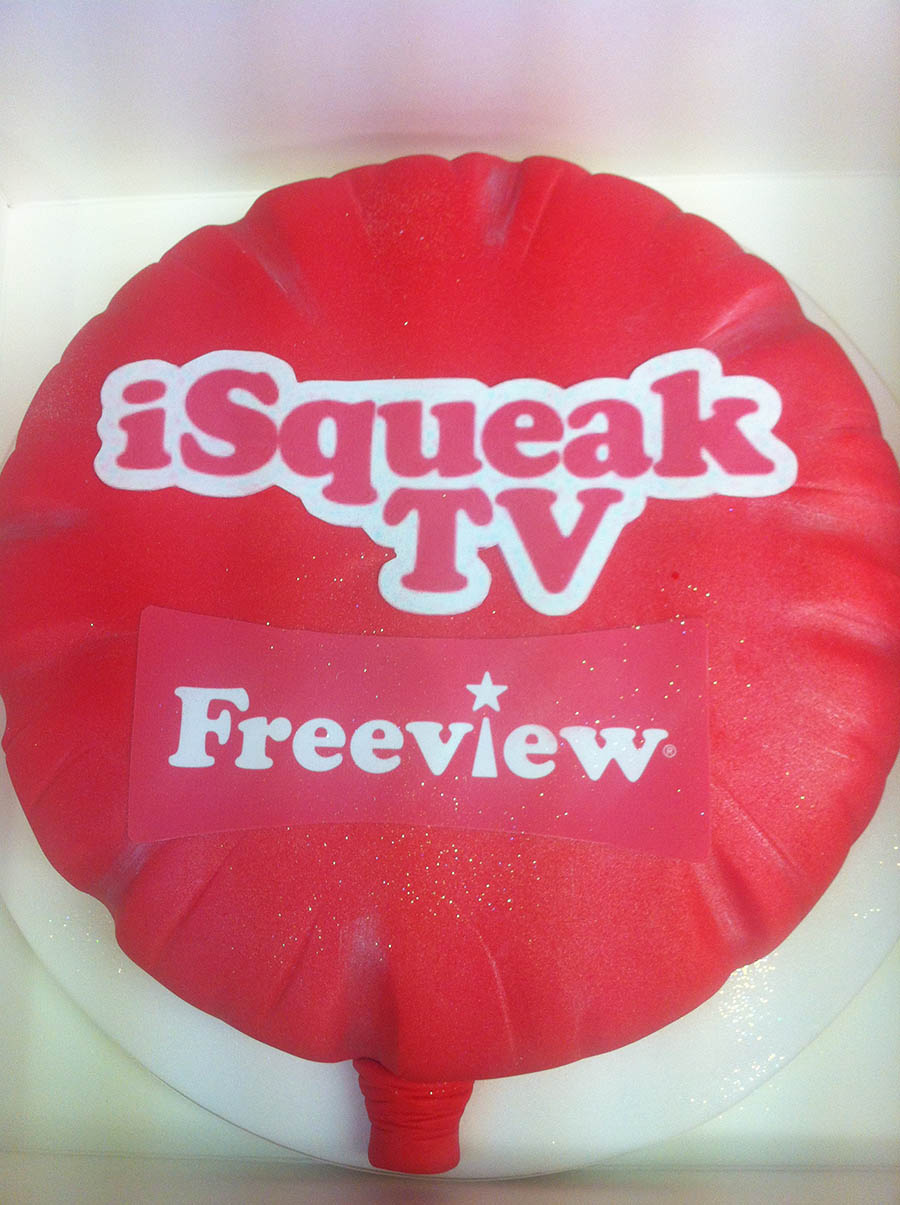 iSqueak TV Promotional Cake