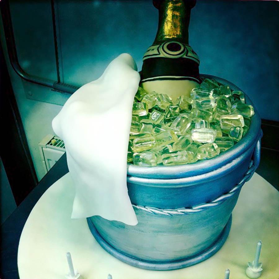 Champagne Buckets Cake
