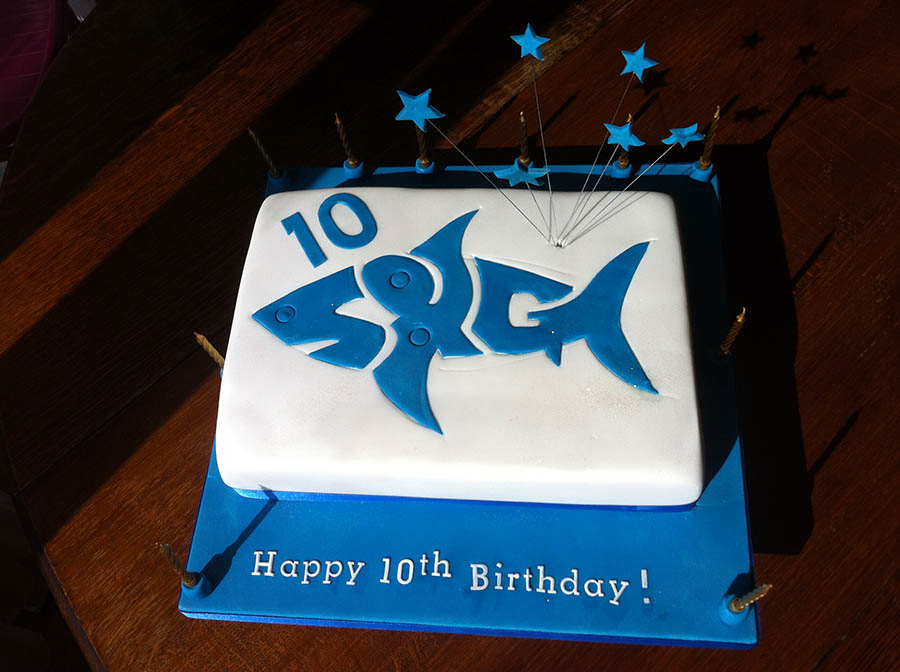 Sharky and George 10th Birthday Cake