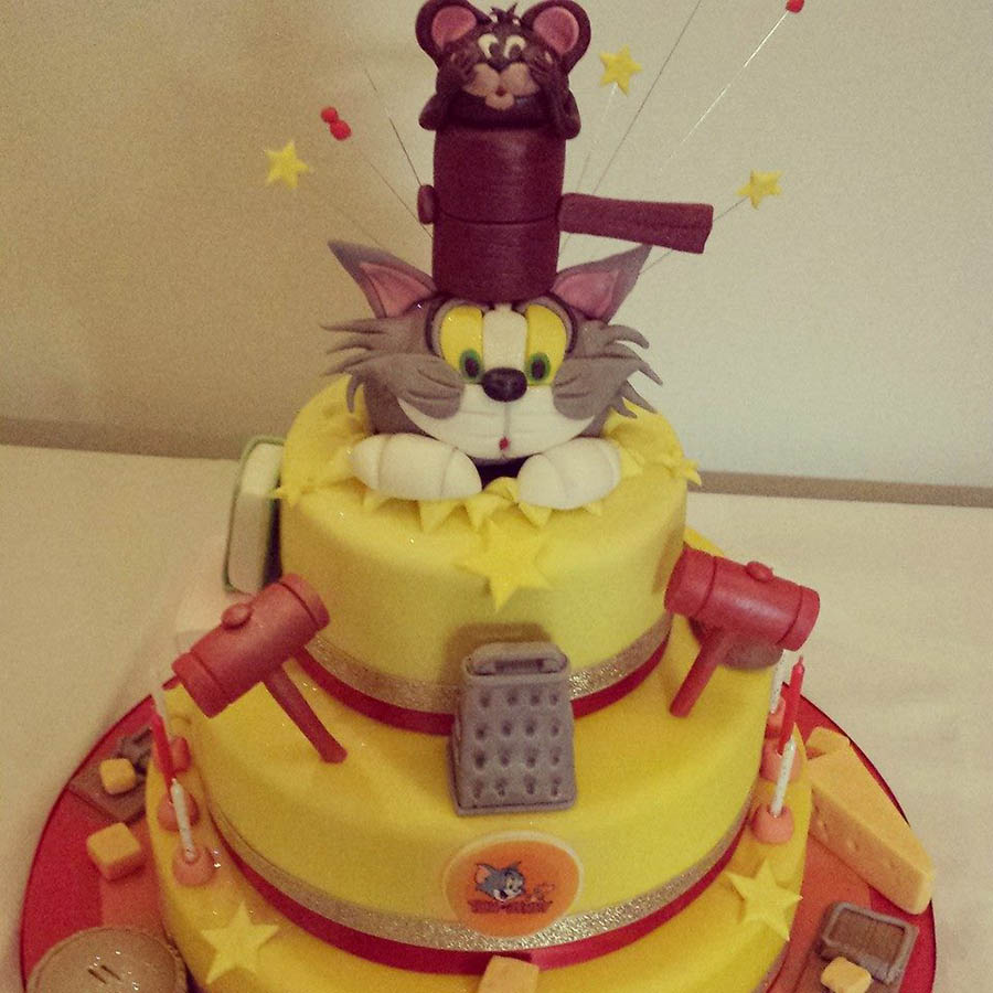 3 Tier Tom and Jerry Cake