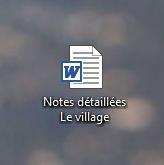 Mon précieux fichier Word à moi que j'ai reçu..