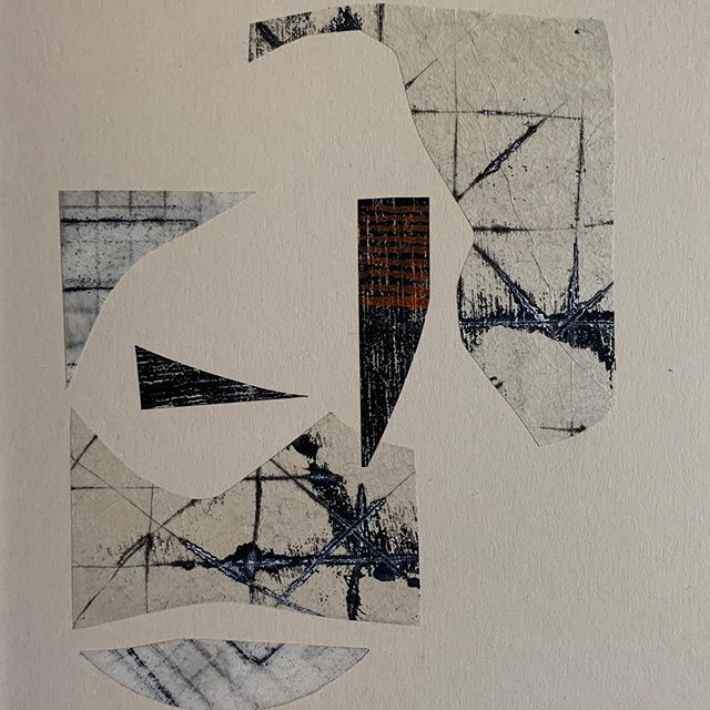 A few new collages in the works... #collage #monoprint #texture