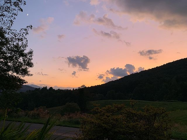 That view! Glad to be back! #penlandschoolofcraft