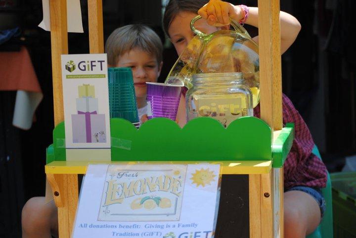 Lemonaide stand benefiting GiFT