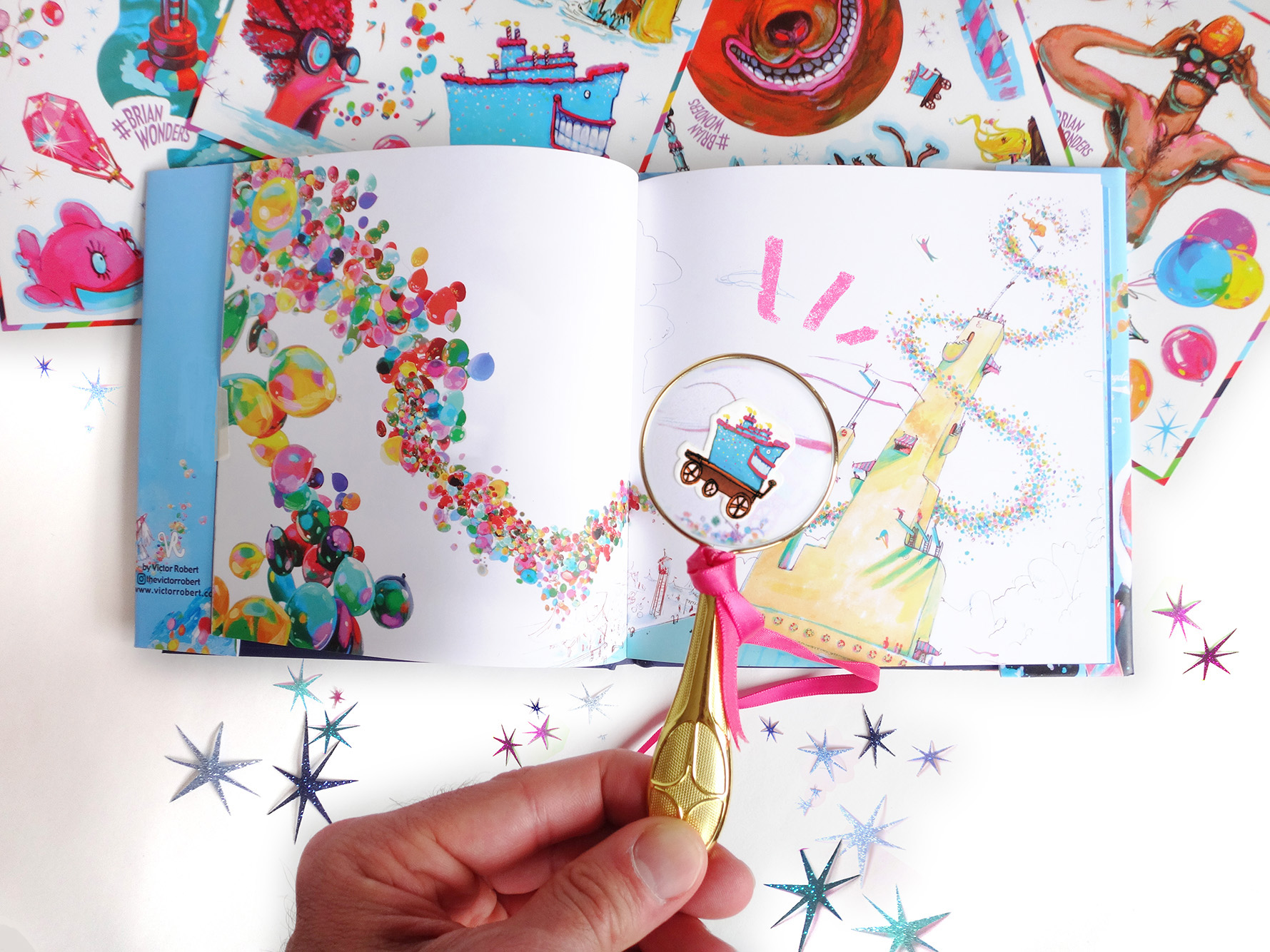 Brian Wonders Stickerbook - Edition of 1,000Wholesale price: $20MSRP: $45no minimum