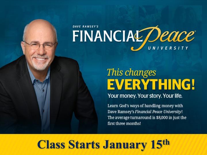 Financial Peace University /Jan. 15th