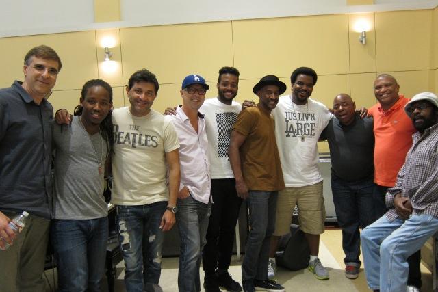 (Left to right) Vince Mendoza, Louis Cato, Ramon Yslas,John Beasley, Kris Bowers, Marcus Miller, Craig Robinson, Paul Jackson Jr, Reginald Hudlin, Wah Wah Watson.