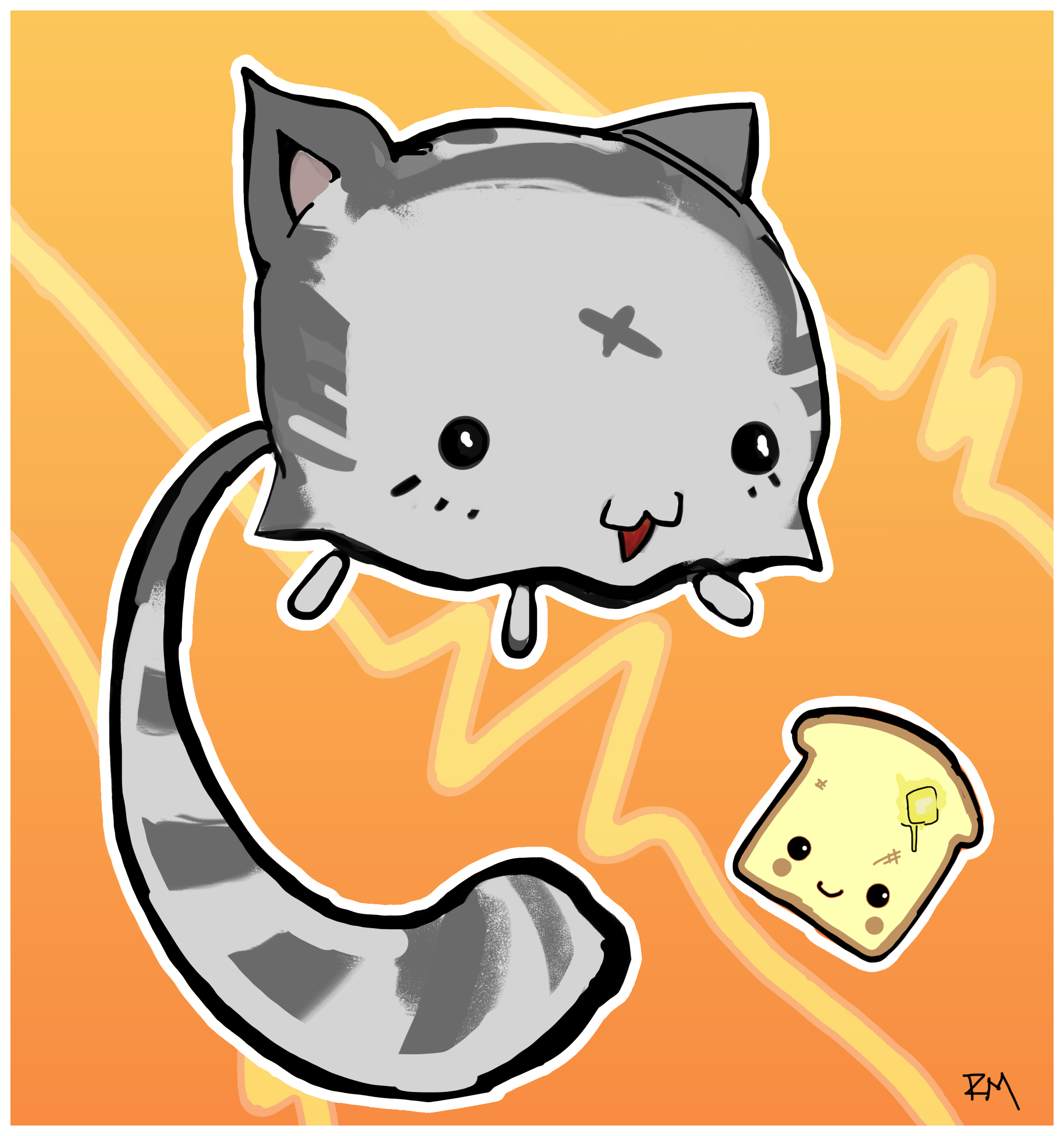 kutekittykatkitten and toast.jpg