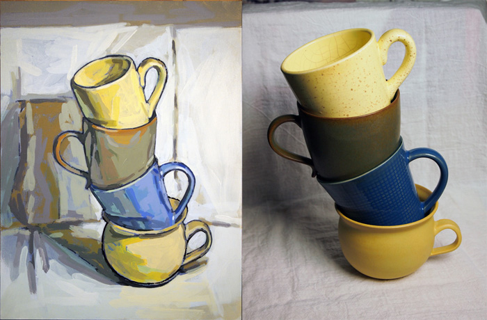 Left:  Topsy Turvy Cups,  Paul Burmeister 2013; Right: source