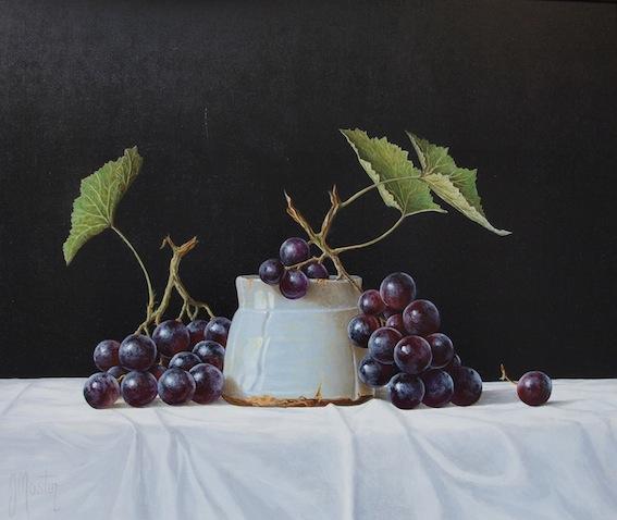 """Muscat Grapes"" Original Acrylic on Board"