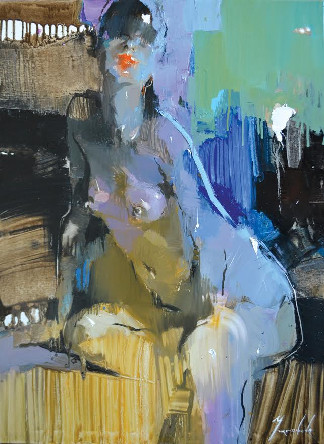 "Iryna Yermolova ""Beautiful Poser Sketch I"" Oil on Canvas"