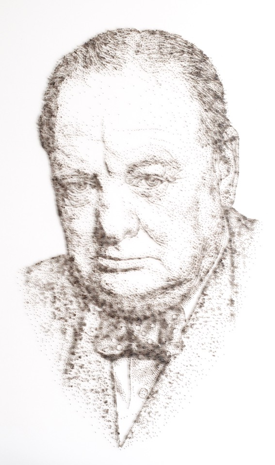 """Churchill"" Original, Nails on Board"