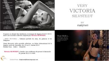 very victoria silvstedt lingerie launch in Paris