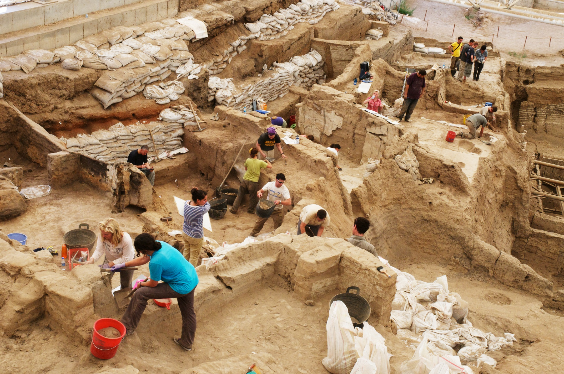 Excavation in the South Area, Çatalhöyük, Turkey.