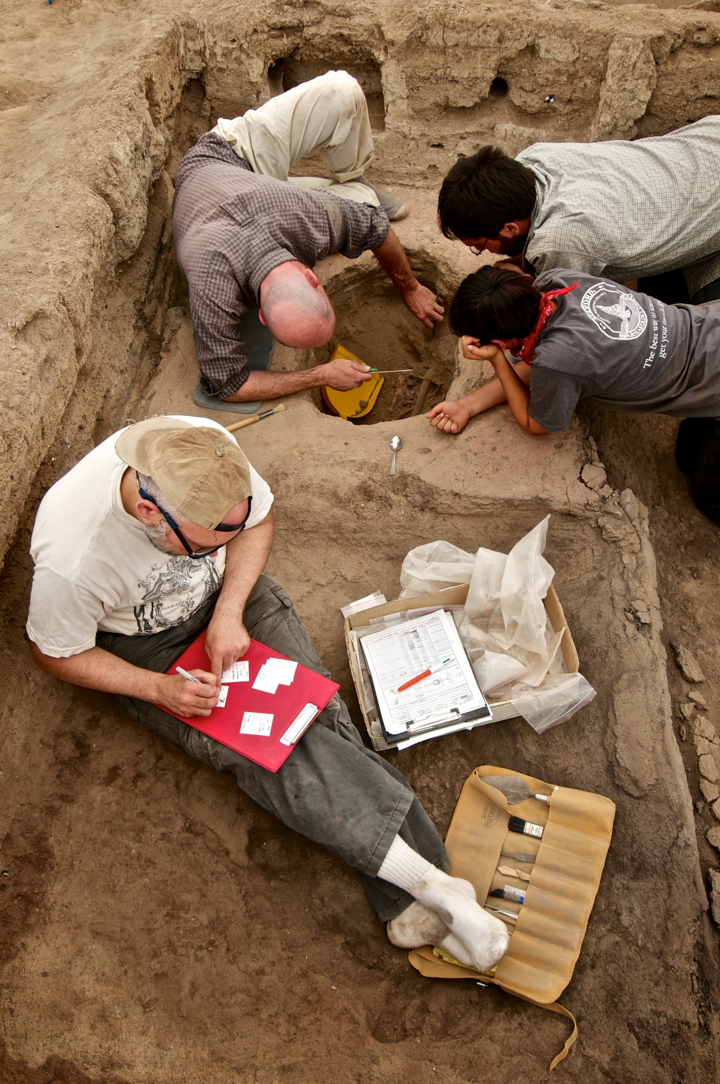 Burial Excavation in Building 52
