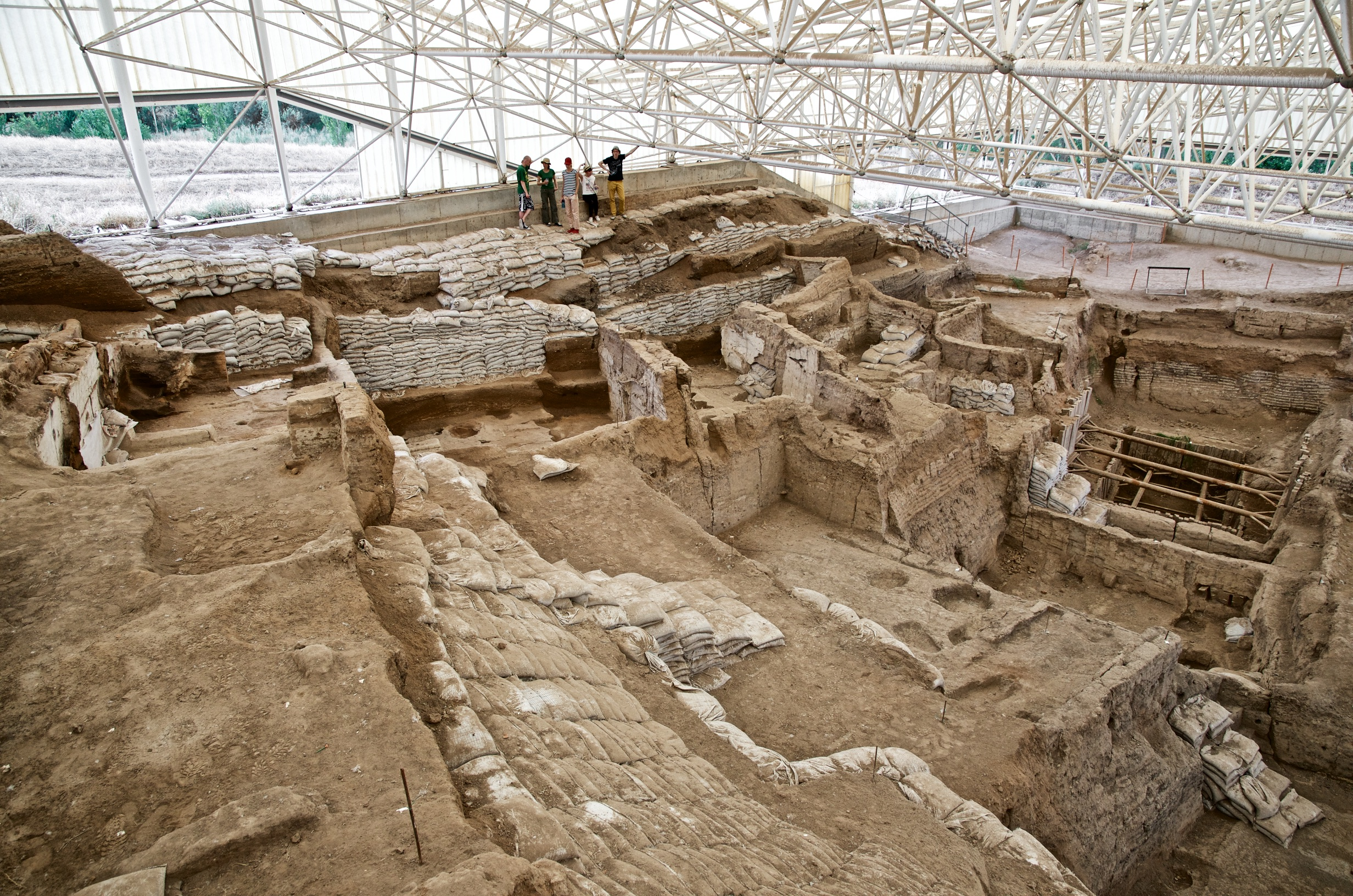Looking down over South excavation pre-2015 season