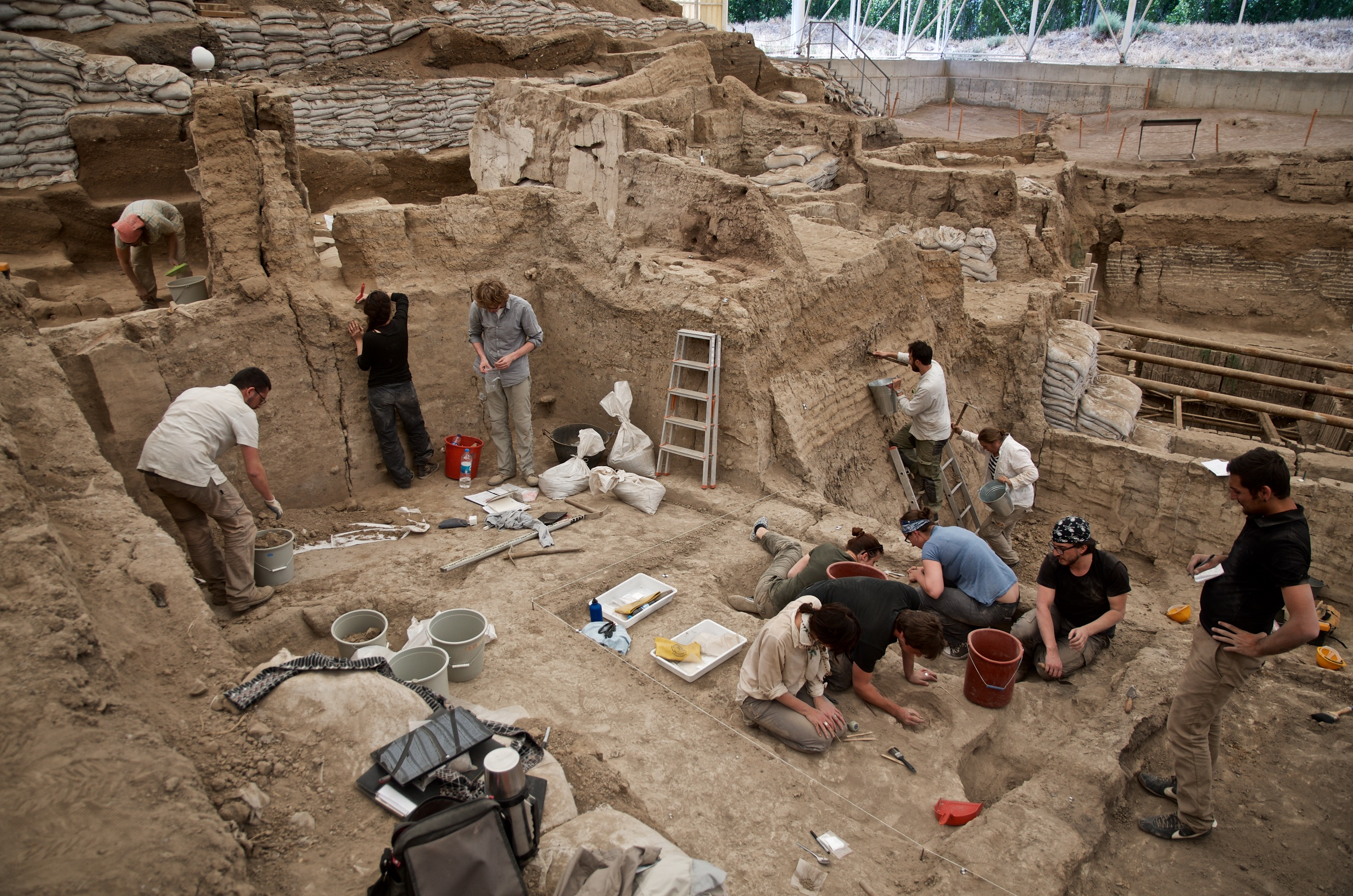 Excavation Around Building 43