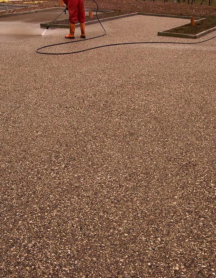Pavimentazione in calcestruzzo lavato