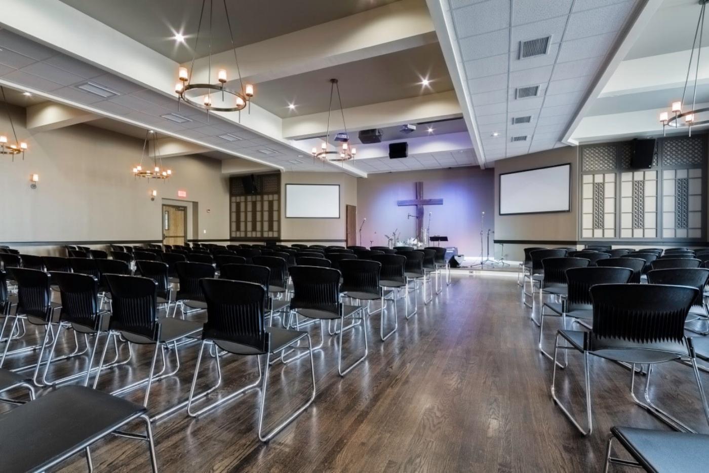 Baptist Church Floor Refinishing