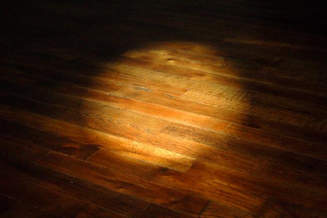 spotlight on old wood