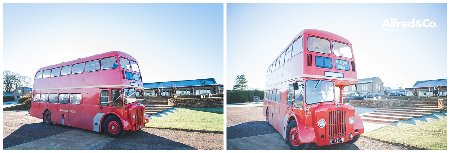 lancashire heritage wedding bus