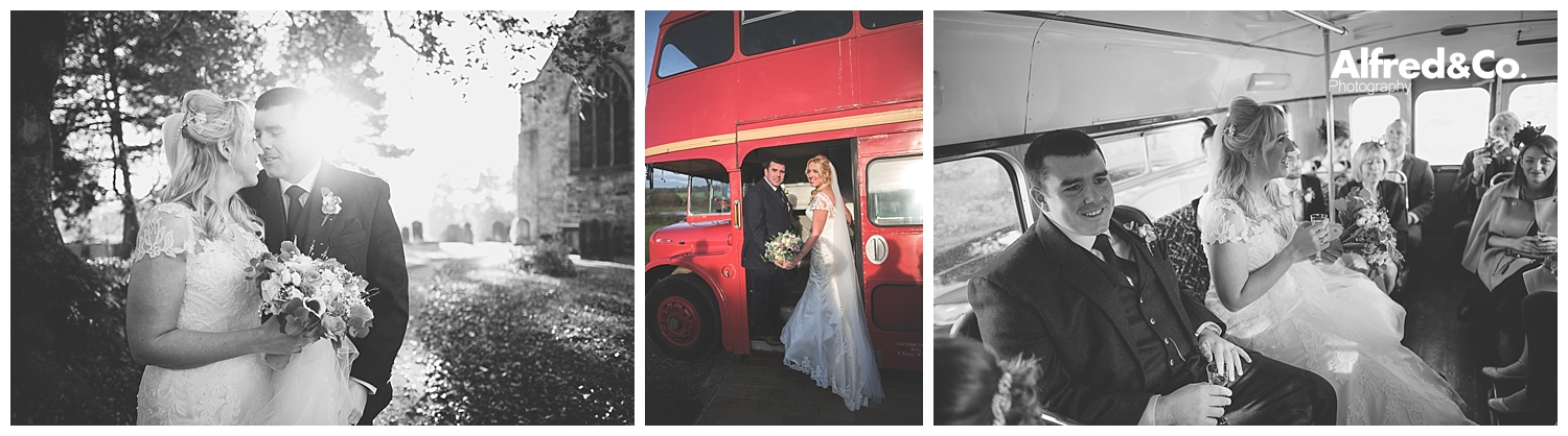lancashire heritage red wedding bus