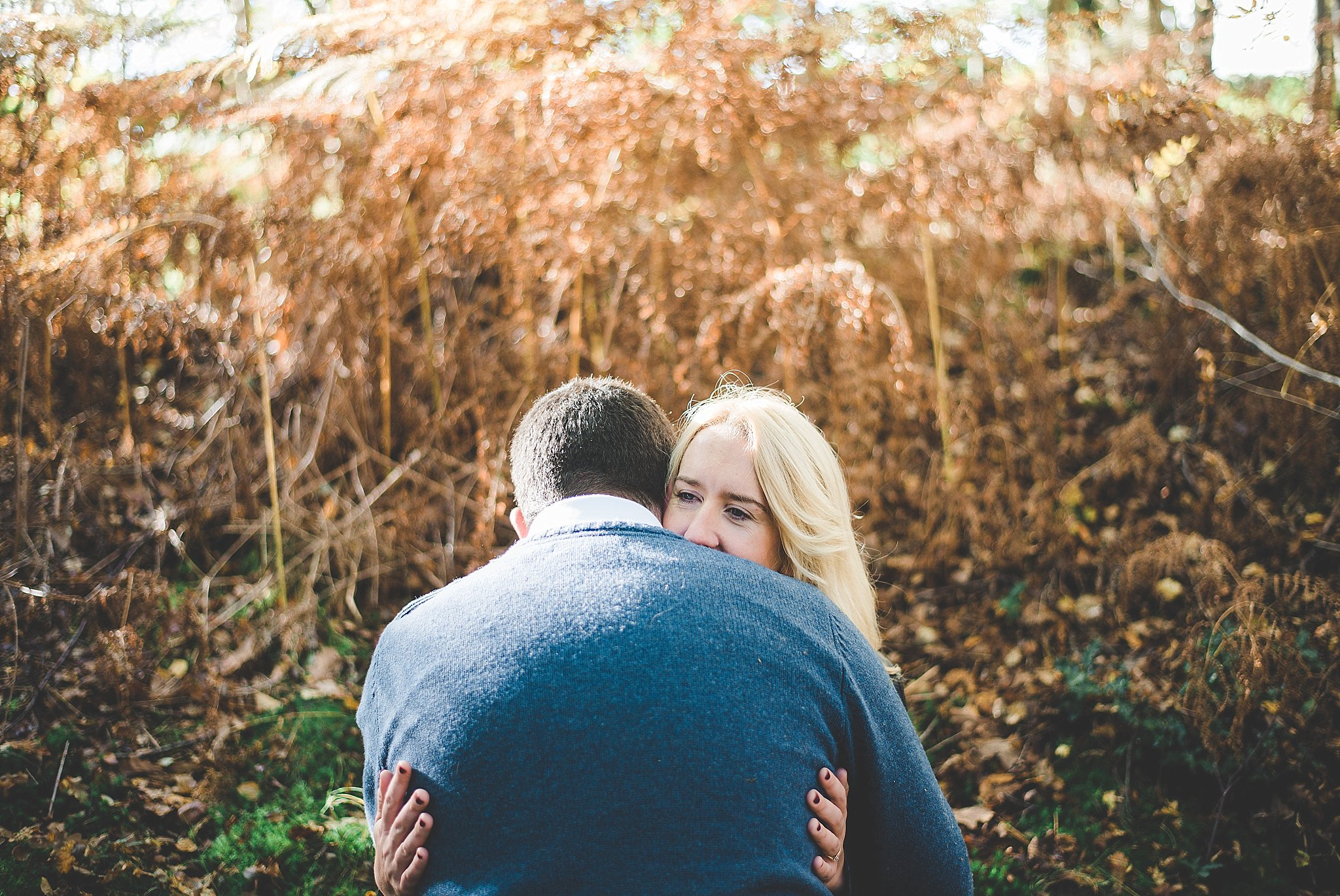 Portrait of couple in woodland
