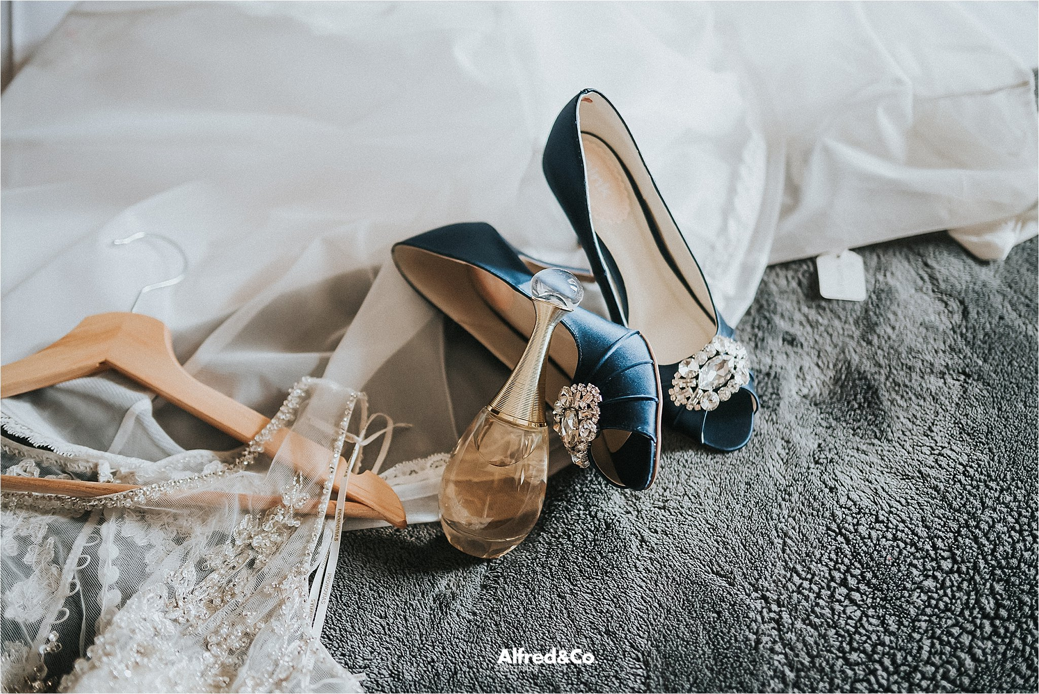 wedding details at eaves hall