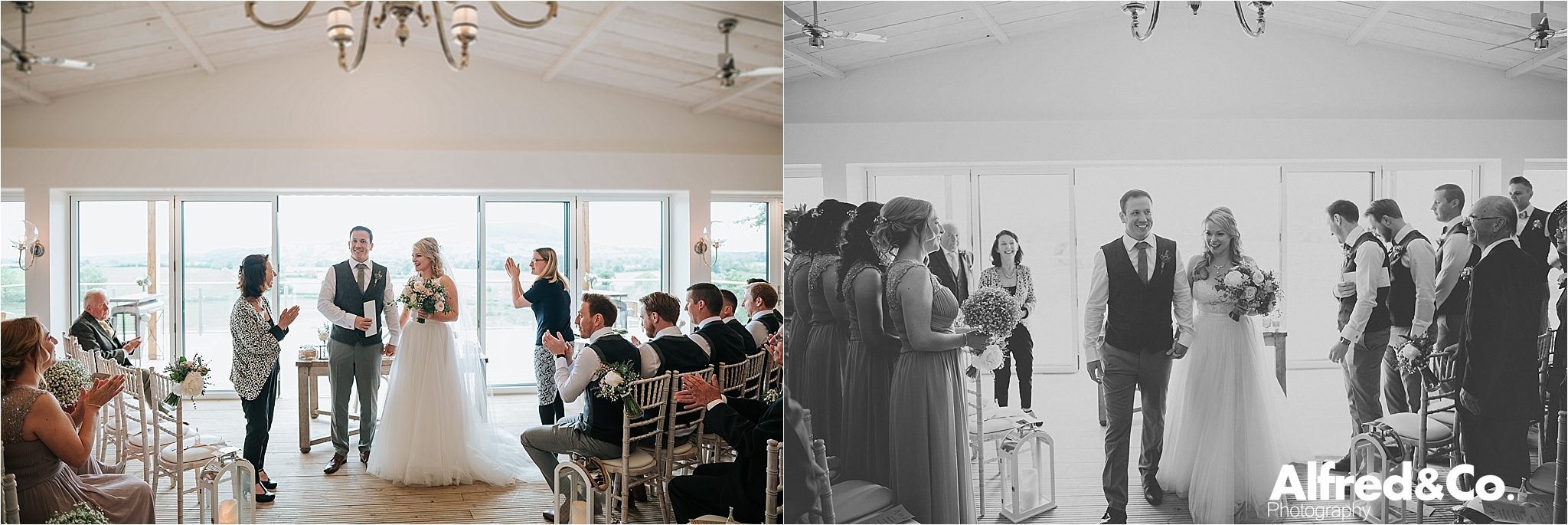 relaxed wedding ceremony in the ribble valley