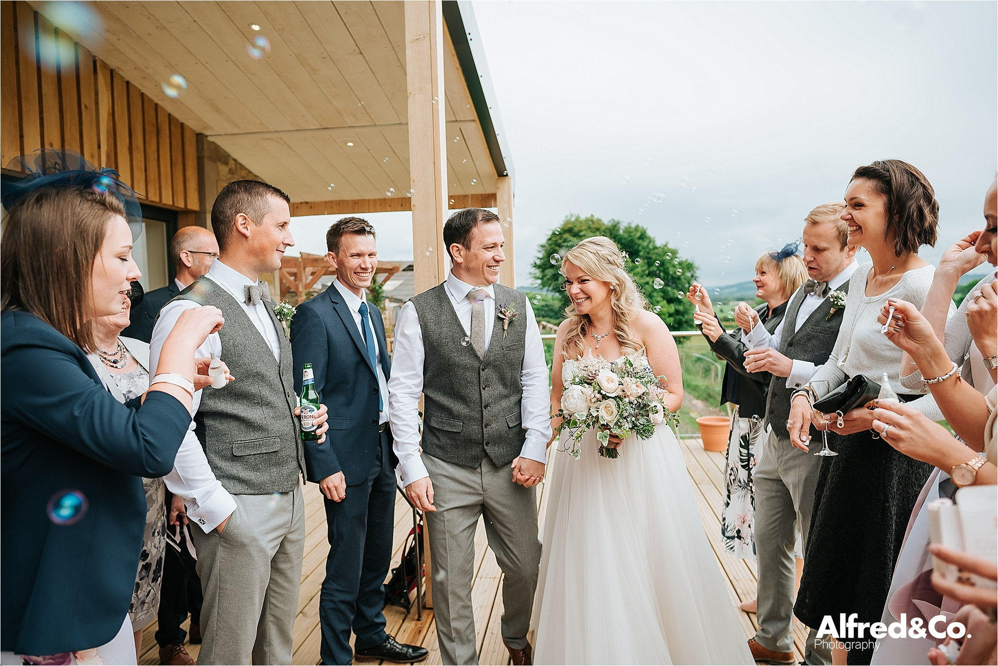 relaxed wedding venue in the ribble valley