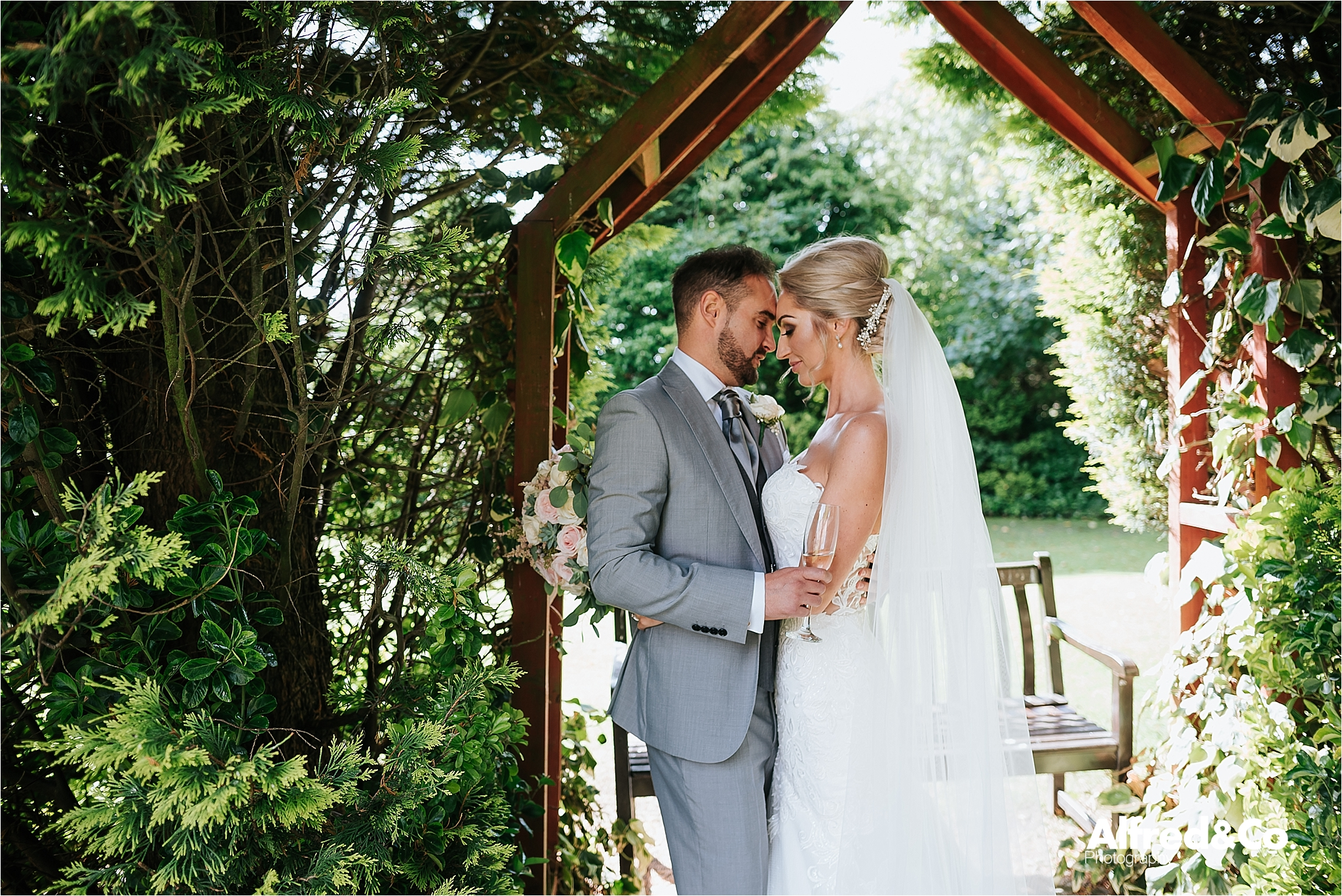 Bride and gROOM at Dunkenalgh accrington wedding