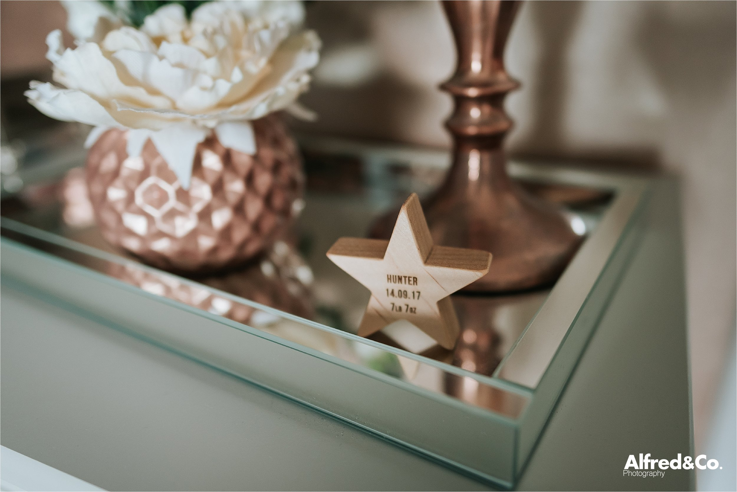 wooden new baby star