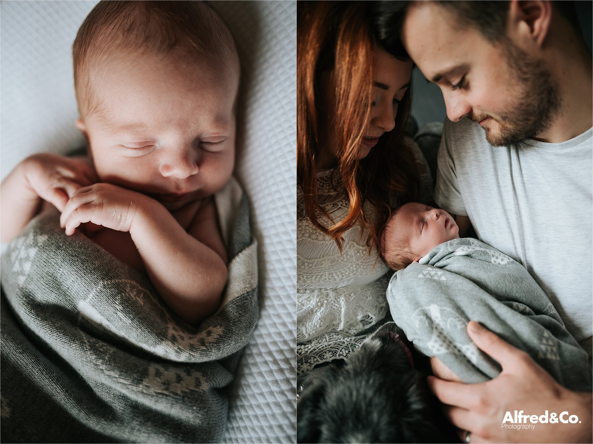 Couple with their new born baby boy