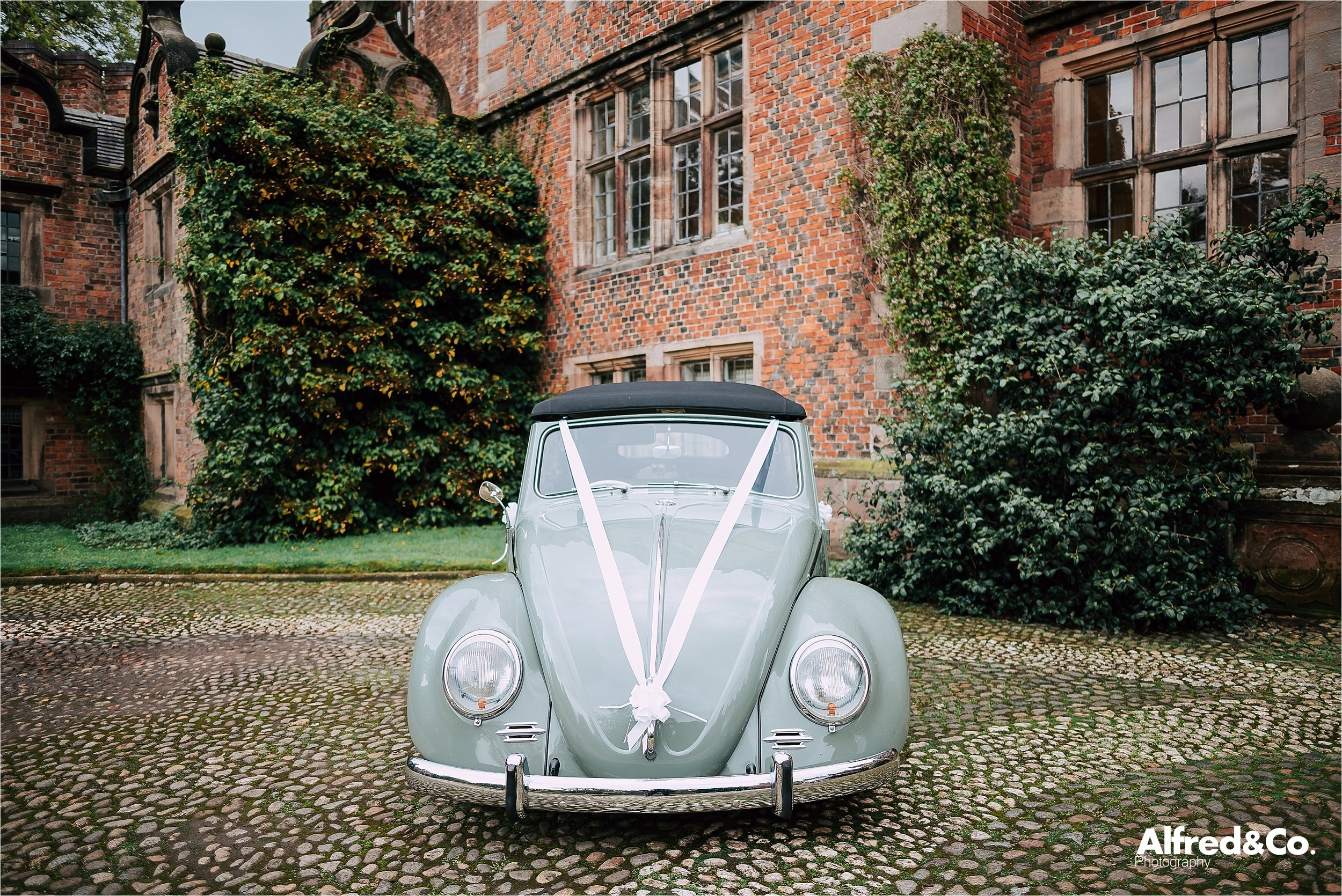 vintage wedding beetle in cheshire