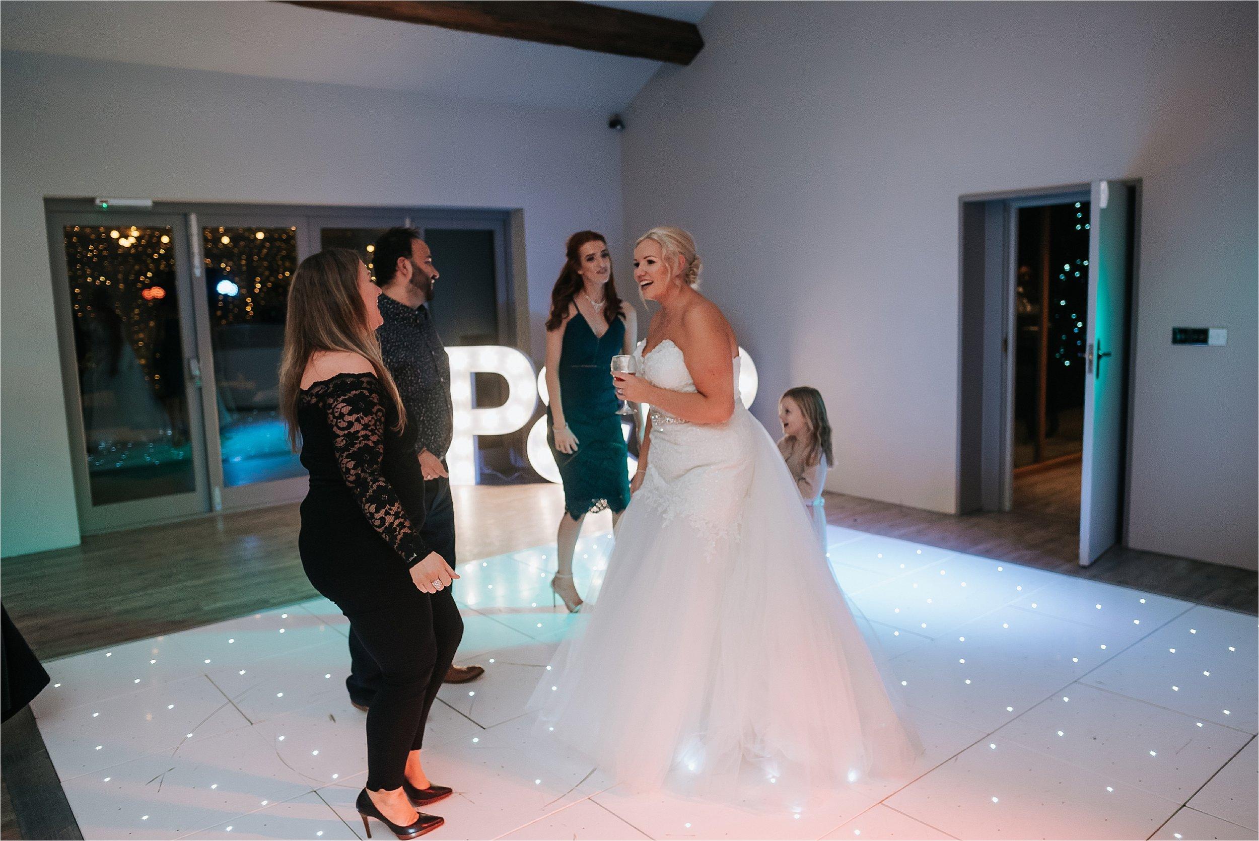 bride dancing on dance floor