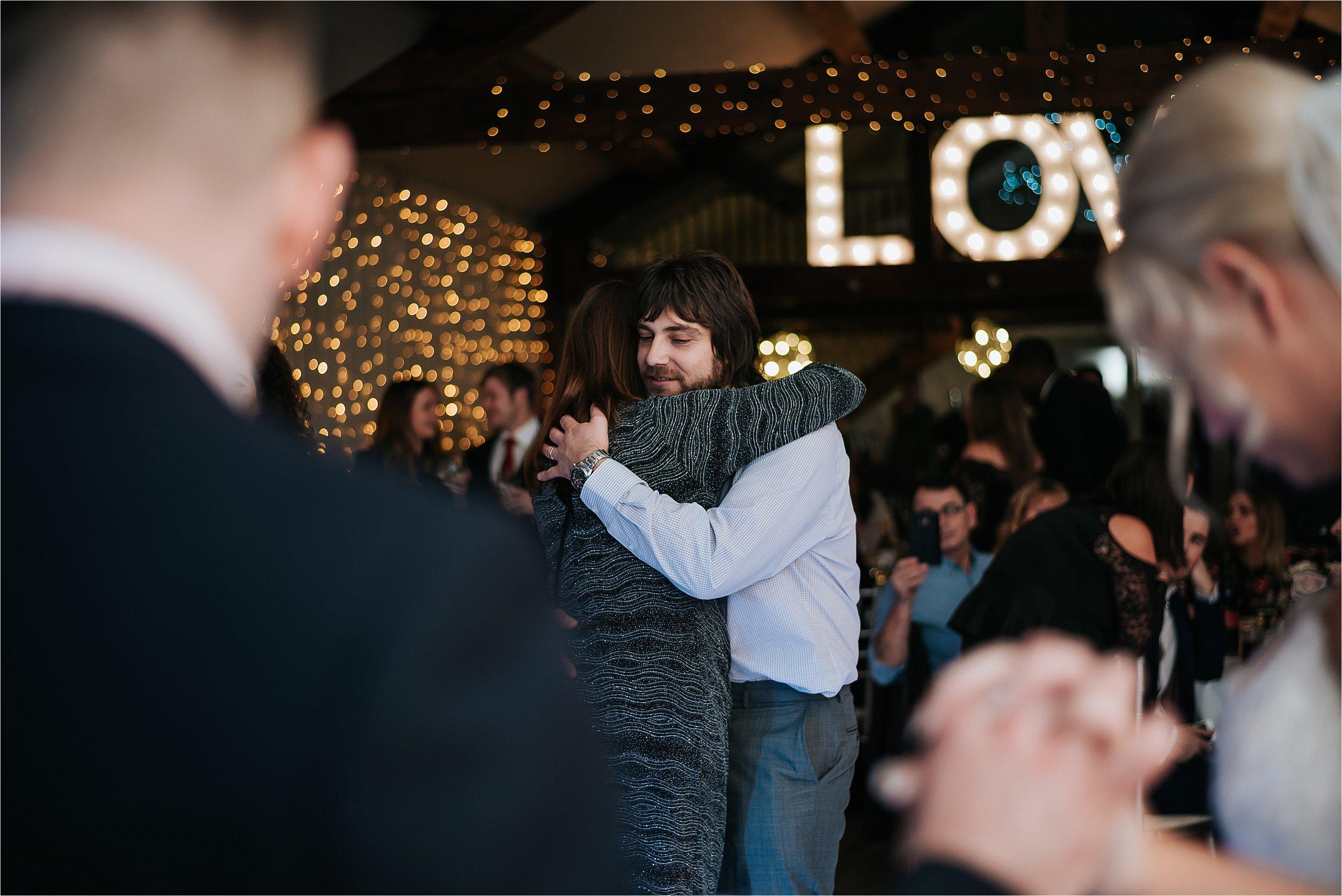wedding reception at the yorkshire wedding barn