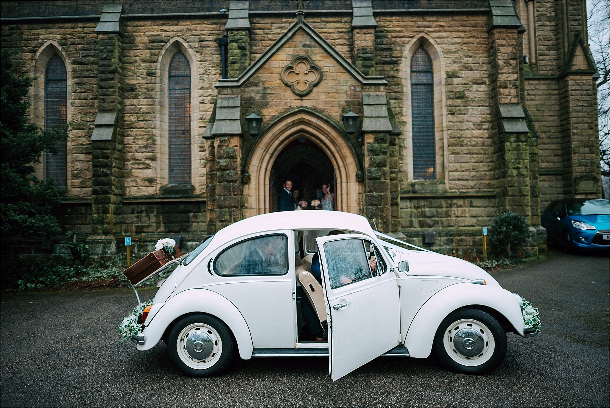 vw beetle for wedding in lancashire