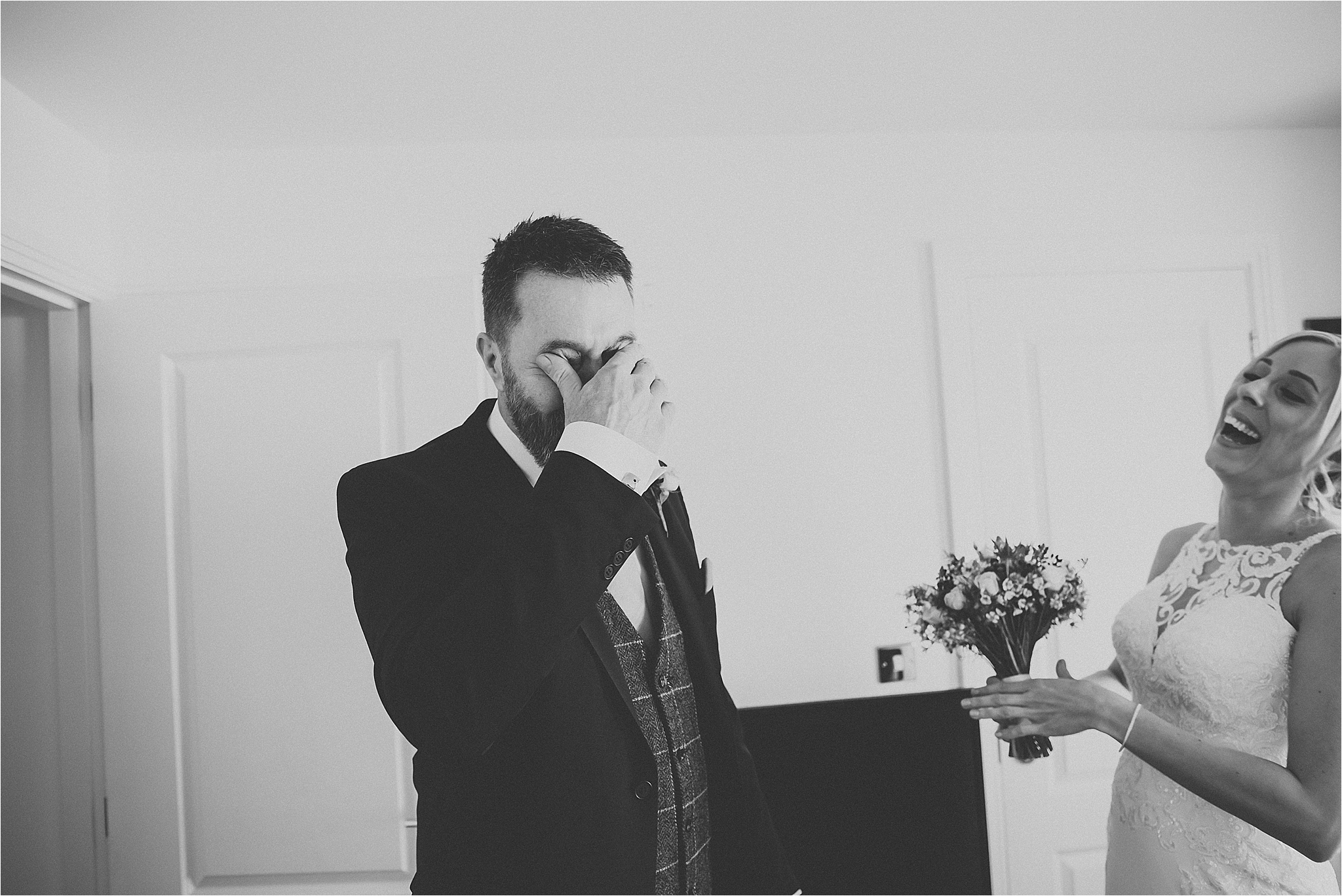 dad gets emotional when he sees bride